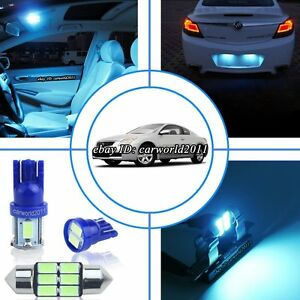 12x Aqua Ice Blue Led Interior Dome Light Package Kit For Nissan Altima 2007 Up Ebay