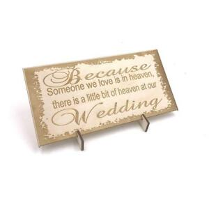 Wooden-Wedding-signs-Plaques-Wedding-in-memory-of-someone-in-Heaven-LPS-5