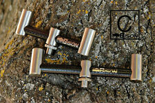 """SET OF 2 MICRO BISON CARBON FIBRE AND STAINLESS STEEL BUZZ BARS 4"""" BACK 5"""" FRONT"""