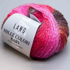 LL 190m//50 g aguja tamaño 3-3.5 Lang hilados Mille Colori bebé 61