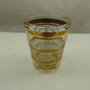 shot glass New Mexico gold clear collectible white sands