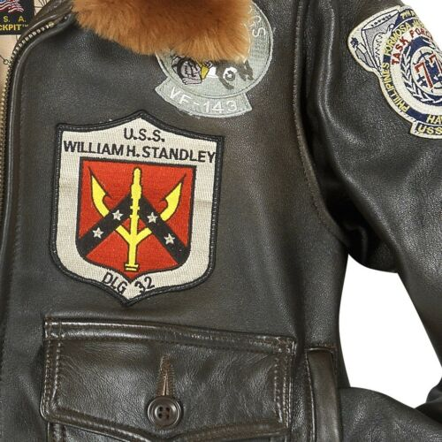 Marrone Bomber Donna Toppe Cockpit Made Top W Gun In Usa FwXWxpIR