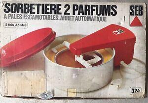 Ancienne Sorbetiere patissiere SEB 2 Parfums
