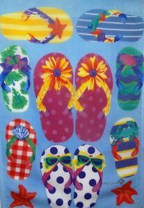 """Flip Flops Summer Fun Garden Flag by Toland, 12.5"""" x 18"""",  #1281"""