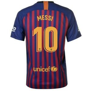 competitive price 73134 6c262 Details about NEW 2018/19 FC BARCELONA HOME MESSI No. 10 Replica Jersey  Nike Football Size 24