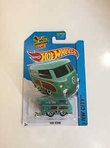 Mattel Hot Wheels HW City Kool Kombi Greenish Blue 73//250