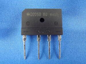 1x Brückengleichrichter D20SB 80 20A 800V