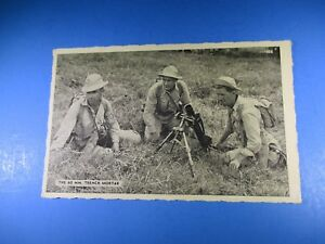 The-60mm-Trench-Mortar-Soldiers-Vintage-Post-Card-PC40