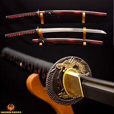 Japanese Samurai Sword KO-KATANA HAND FORGED DAMASCUS Steel Sharp Can Cut Bamboo
