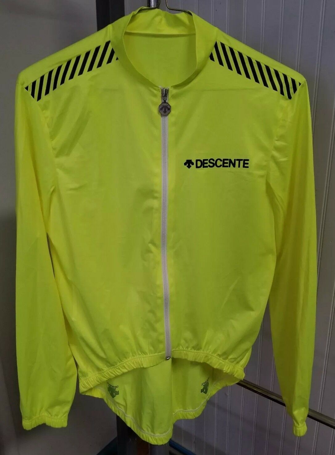 Descente Neon Gelb Racing Cycling Jacket Jersey Top Größe Small Style Hans Hess
