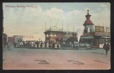 POSTCARD VENICE CA/CALIFORNIA MINI TRAIN RAILROAD LOCOMOTIVE TRAIN RIDE 1907