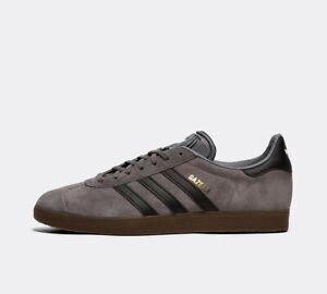 Details about adidas Originals Gazelle Trainer | Grey Four / Core Black / Gum / All Sizes
