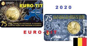 2020  BELGIQUE    PAIX   ET  LIBERTE    COINCARD  2,50      FLAMANDE  disponible