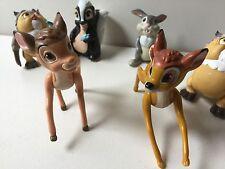 Disney Bambi Lot of 6 PVC Figures/Cake Toppers Thumper Flower