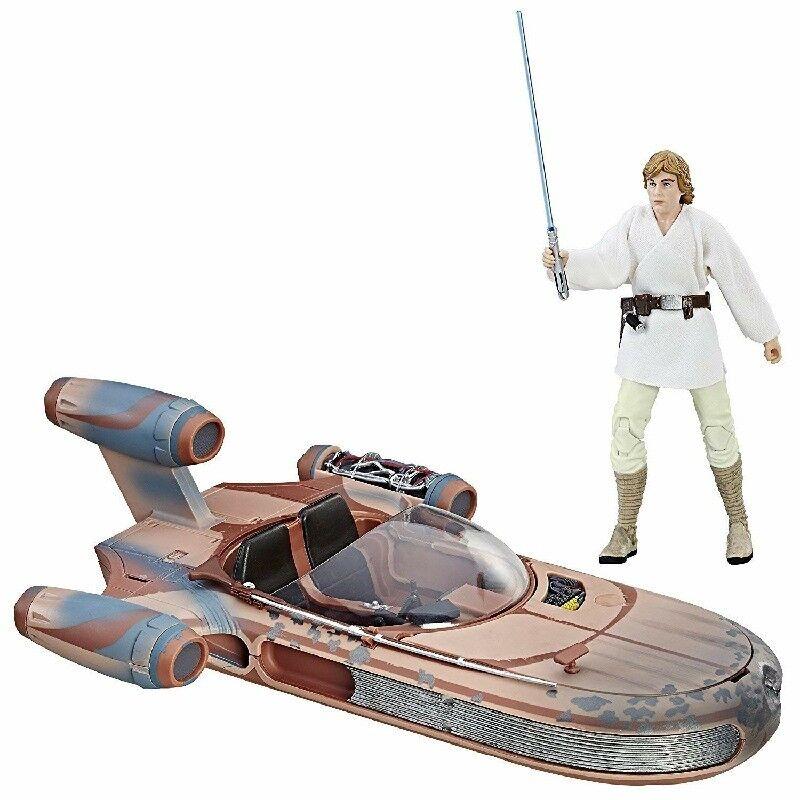Star Wars E4 schwarz Series Landspeeder with Luke Skywalker - New