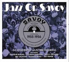 JAZZ ON SAVOY 1955-1956 - 54 LEGENDARY JAZZ RECORDINGS (NEW SEALED 3CD)