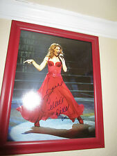 Celine Dion Singing Superstar  In Person Signed & Framed  Color 11X14  Photo