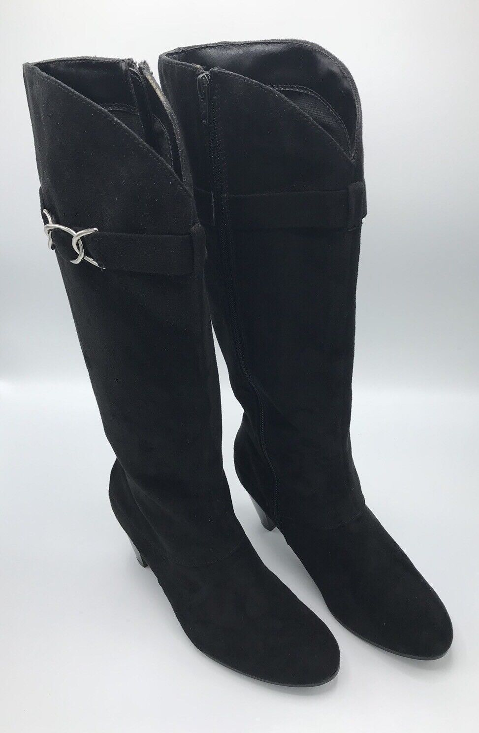 Predictions Women's Suede Black Boots Sz 7 W