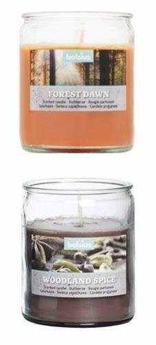 Bolsius bougie parfumée dans verre Woodland Spice ou Forrest Dawn Bougie Bougies f000
