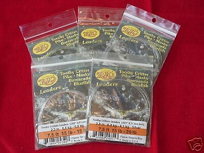 Rio Toothy Critter Leaders 20 Lb Salt /& Fresh Water NEW