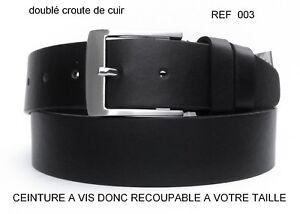 CEINTURE-HOMME-DOUBLE-CROUTE-DE-CUIR-VACHETTE-NOIR-REF003-COUPER-A-VOTRE-TAILLE