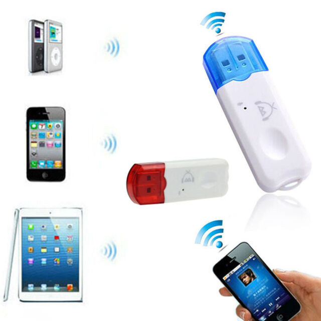 Wireless USB Bluetooth Stereo Audio Music Receiver Adapter For iPhone Tide