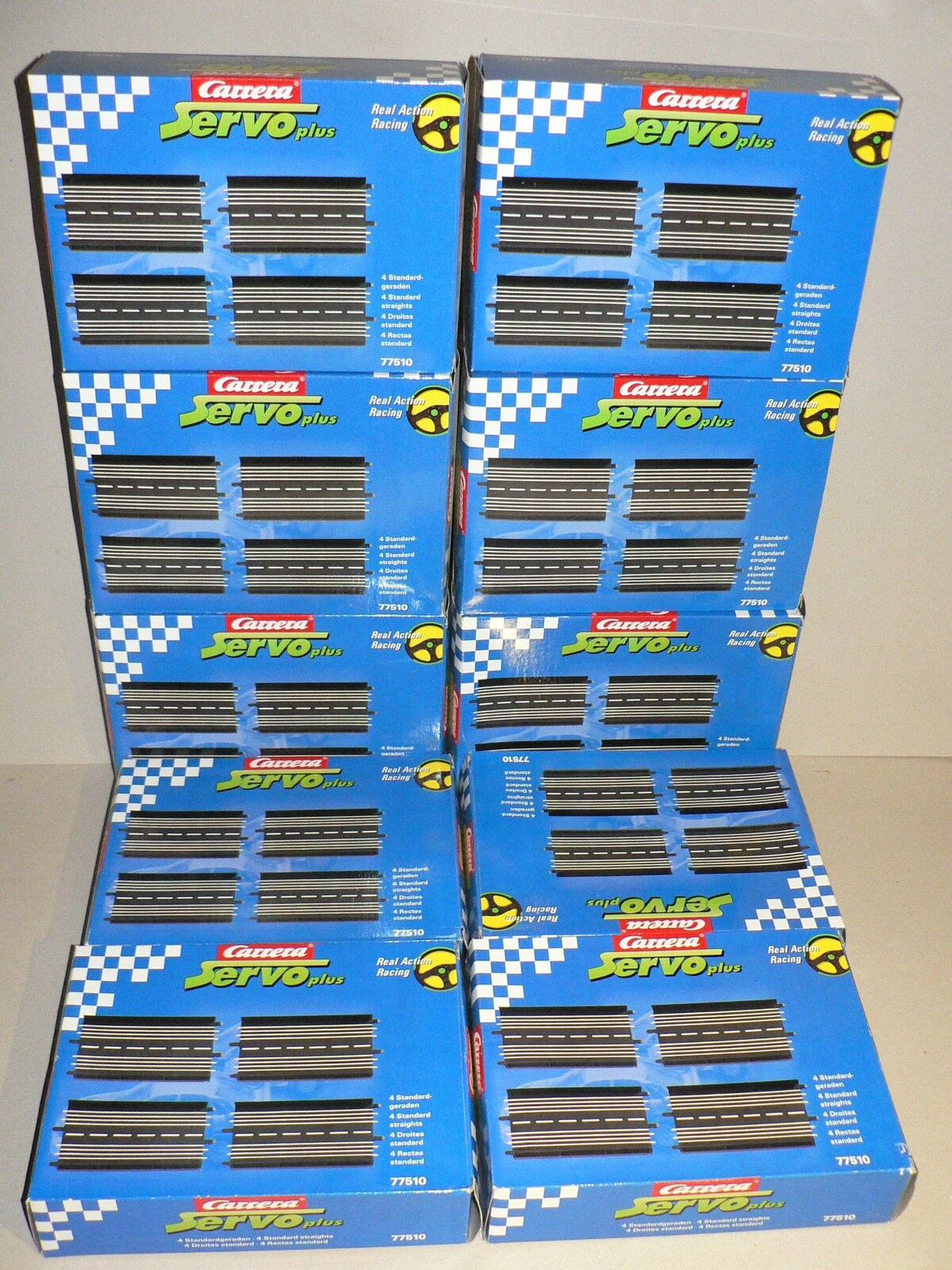 Carrera Servo 140plus Straight 40 Piece Standard Straight 77510 NEW