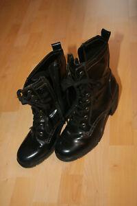 Schwarze-hochhackige-Stiefeletten-von-Graceland-Gr-39