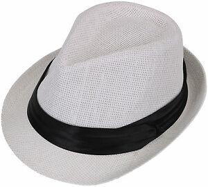 New Unisex Fedora Trilby Fedora Hat Cap Beach Summer Sunhat Men Women