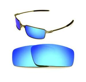 d309147938 NEW POLARIZED CUSTOM ICE BLUE LENS FOR OAKLEY SQUARE WIRE SUNGLASSES ...