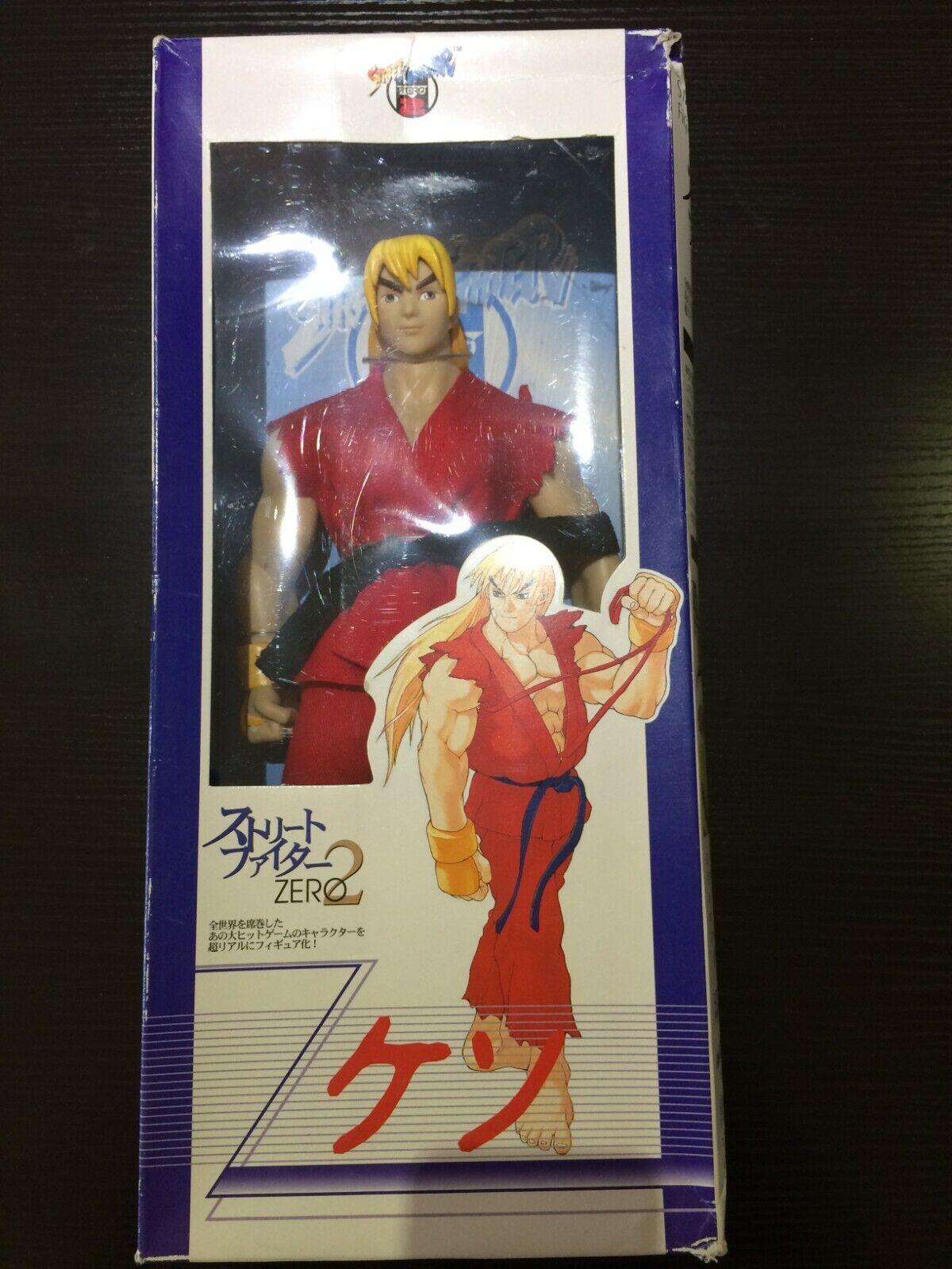 Official Capcom 12  STREET FIGHTER ZERO 2   ALPHA 2 KEN toy figure w cloth outfi