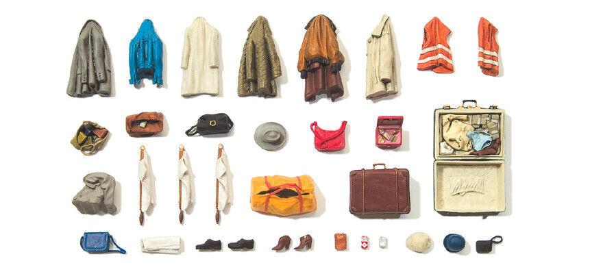 Preiser 45223 Spur G Kleidungsstücke Koffer etc farbig Warnwesten Taschen