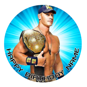 Strange John Cena Personalised Edible Birthday Party Cake Decoration Personalised Birthday Cards Beptaeletsinfo
