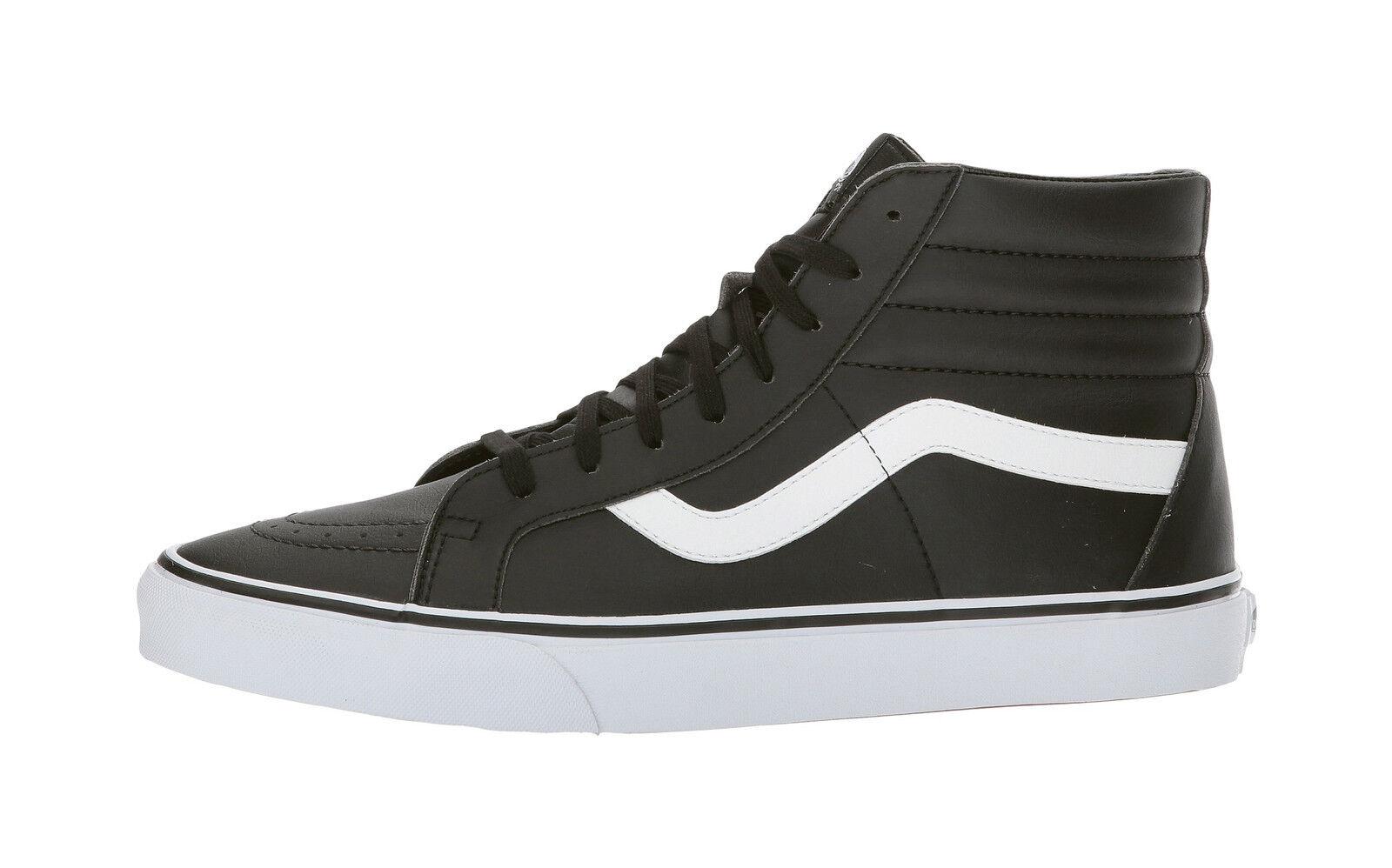 36b7606015 VANS Sk8 Hi Reissue Classic Tumble Black True White Skate Sports ...