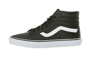 Vans-Men-Women-Unisex-Shoes-SK8-Reissue-Classic-Tumble-Leather-Synthetic-Black