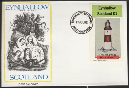 GB Locals - Eynhallow (1178) 1982 LIGHTHOUSE souvenir sheet on first day cover