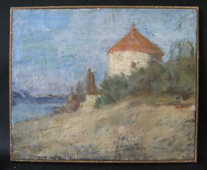 Lucie-Lardin-Descsenyi-Paysage-au-Vieux-Moulin-huile-sur-toile