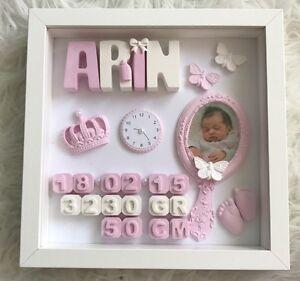 Baby bilderrahmen personalisiert geschenk andenken taufe - Bilderrahmen personalisiert ...