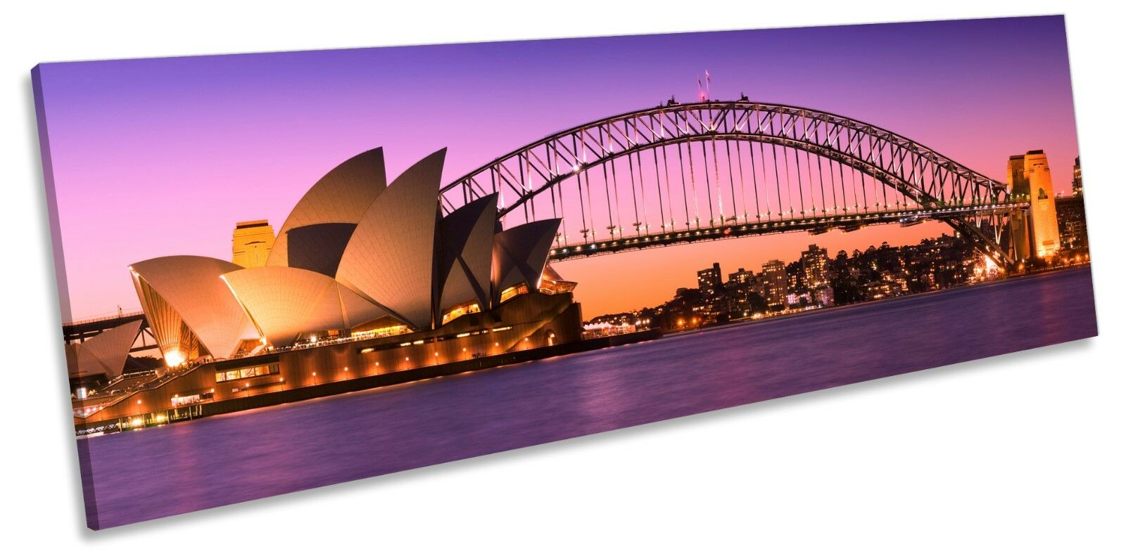 Sydney Harbour Skyline Città A MURO ARTE panoramico incorniciato incorniciato incorniciato stampa 006323