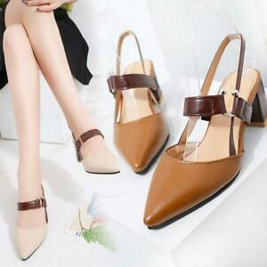 Women-coarse-sandals-high-heels-shallow-mouth-pointed-pumps-shoes-high-heel-U2D7