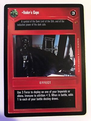 Star Wars CCG Cloud City Card Vaders Cape