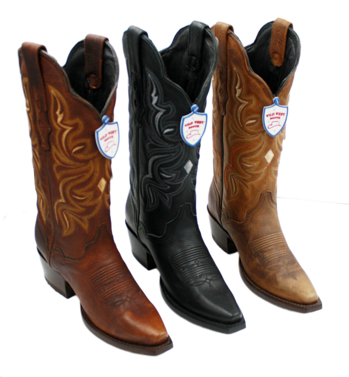 Ladies Genuine Wild West Leather Western Cowgirl Boots Style-2349940