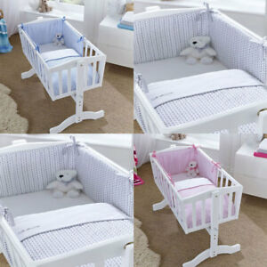 1ba7b67a8548d Clair de Lune Barley Bebe 2 Piece Crib Cradle Quilt   Bumper Bedding ...