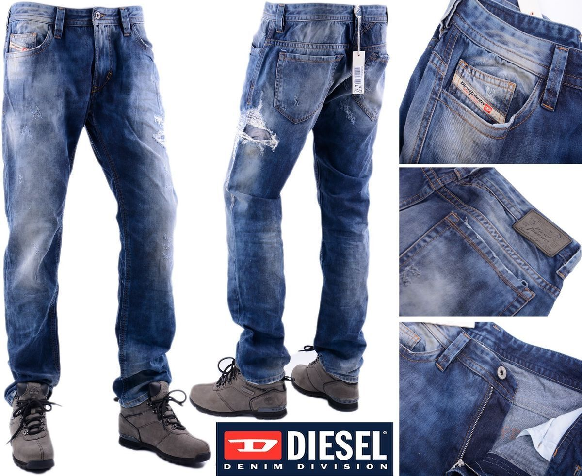 DIESEL PredOTIPI PANTALONI W32 EX-SAMPLE Mens Denim Jeans Regular Fit Straight