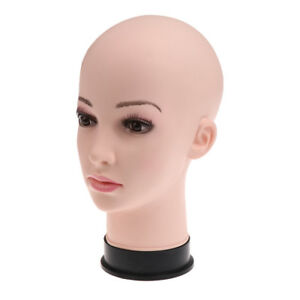 11'' Female PVC Head Model Glasses Hair Wig Mannequin Stand Manikin Display