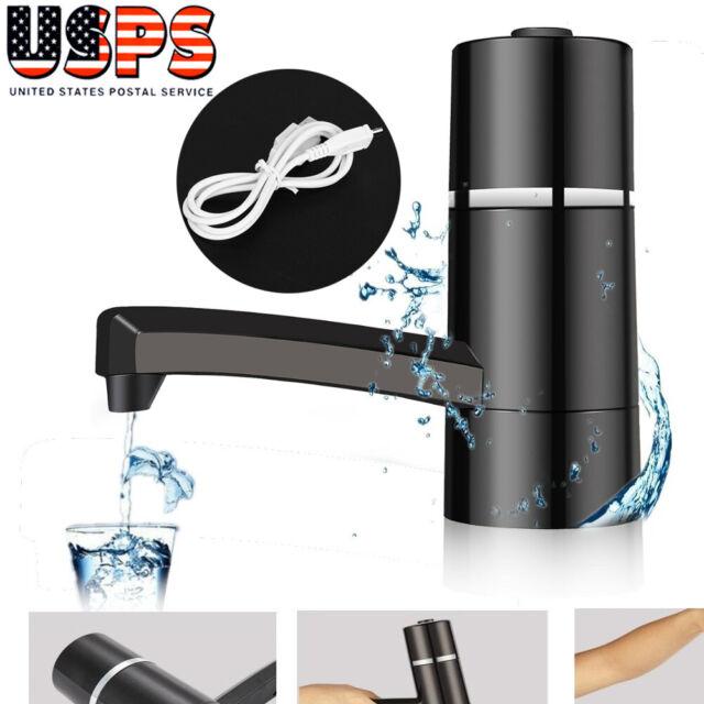 Gallon Water Bottle Jug Electric Pump Dispenser Wireless Spigot Camping Drinking
