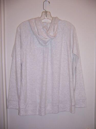 Women/'s NWT Light Heather Grey Print Hooded Jacket Sz XL Runs Small SALE 15-17