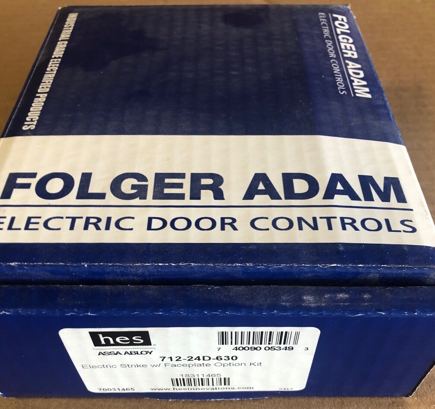 HES Folger Adam Electric Strike Part # 712-24D-630  NEW in the Box!