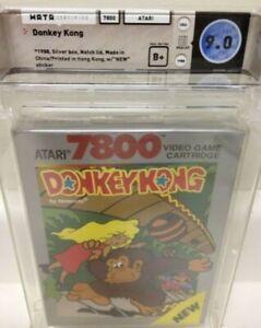 DONKEY KONG  Wata 9.0 FACTORY SEALED first Mario rare game Atari 7800 2600 mint