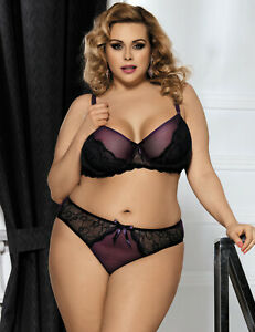 Naughty-Lace-and-Bra-Set-Plus-Size-14-to-22-Purple
